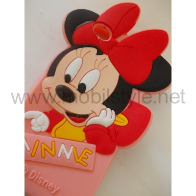 Силиконов калъф / гръб / TPU 3D за Apple iPhone 4 / iPhone 4S - MINNIE / Disney