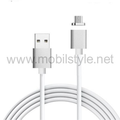 Магнитен USB кабел / USB Type-C Magnetic Charging Data Cable за Samsung Galaxy S9 G960 - сребрист / бял