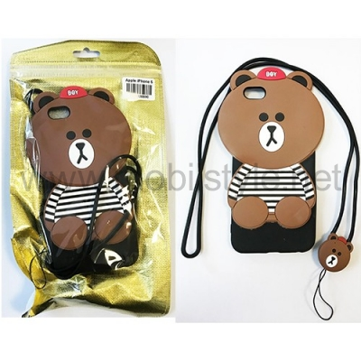 Силиконов калъф / гръб / TPU 3D за Apple iPhone 6 / iPhone 6S - Teddy Bear / мече