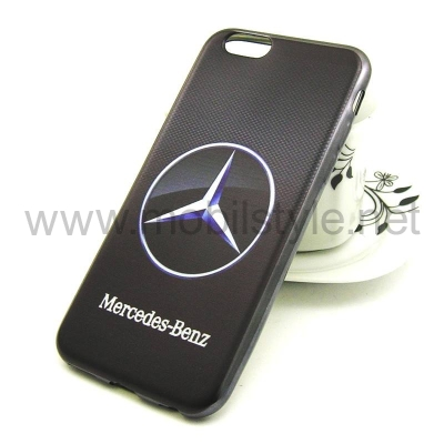 Силиконов калъф / гръб / TPU за Apple iPhone 6 / iPhone 6S - Mercedes Benz / чер