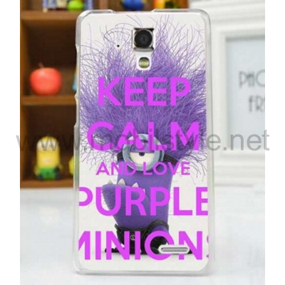 Твърд гръб за Lenovo A536 - Keep Calm and Love Purple Minion / лилав