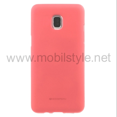 Луксозен силиконов калъф / гръб / TPU Mercury GOOSPERY Soft Jelly Case за Samsung Galaxy J7 2017 J730 - корал