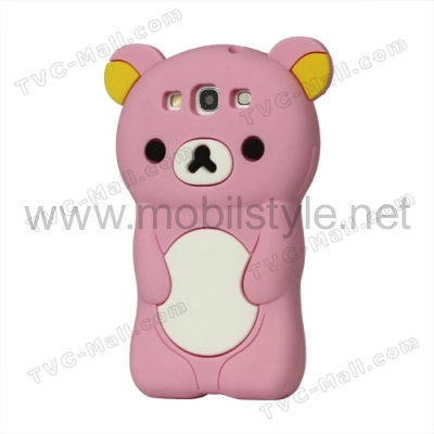 Силиконов калъф / гръб / TPU 3D за Samsung Galaxy S III 3 I9300 - Lovely bear /