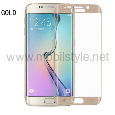 3D full cover Tempered glass screen protector Samsung Galaxy S6 Edge + / Извит с