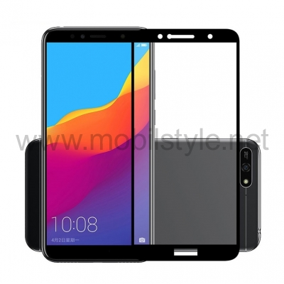 3D full cover Tempered glass Full Glue screen protector Huawei Y5 2018 / Извит с