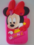 Силиконов калъф / гръб / TPU 3D за Samsung Galaxy Ace S5830 - Minnie Mouse / цик