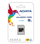 Карта памет Micro SDHC Card ADATA 8GB + Micro SD Adapter Class 4