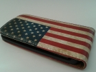 Кожен калъф Flip тефтер за HTC Desire 500 - Retro USA Flag
