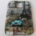 Силиконов калъф / гръб / TPU за Samsung Galaxy S5 G900 - Eiffel Tower Car / Айфе