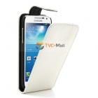 Кожен калъф Flip тефтер за Samsung Galaxy S IV S4 mini I9190 - бял