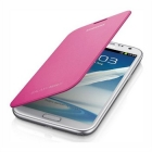 Кожен калъф тип Flip Cover за Samsung Galaxy Note 2 N7100 - розов