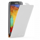 Кожен калъф Flip тефтер за Samsung Galaxy Note 3 N9000 N9005 - бял
