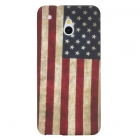 Силиконов калъф / гръб / TPU за HTC One Mini M4 - Retro American flag