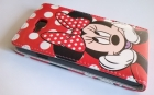 Кожен калъф Flip тефтер за LG Optimus L9 II D605 - Minnie Mouse / червен