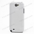 Заден предпазен капак Perforated за Samsung Galaxy Note2 N7100 - Бял