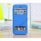 Кожен калъф Flip Cover S-View за Apple iPhone 5C - син