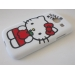 Силиконов калъф / гръб / TPU за Samsung Galaxy Core I8260 / Samsung Core I8262 - Hello Kitty / бял