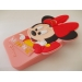 Силиконов калъф / гръб / TPU 3D за Apple iPhone 4 / iPhone 4S - MINNIE / Disney / розов