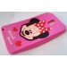 Силиконов калъф / гръб / TPU 3D за Samsung Galaxy Note 3 N9000 / Samsung Note 3 N9005 - Minnie Mouse 2 / цикламен