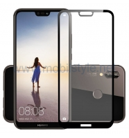 3D full cover Tempered glass screen protector Huawei P20 Lite / Извит стъклен ск
