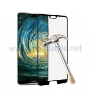 3D full cover Tempered glass screen protector Huawei P20 Pro / Извит стъклен скр