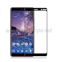 3D full cover Tempered glass screen protector Nokia 7 Plus / Извит стъклен скрий
