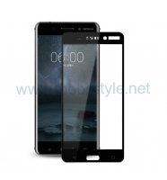 3D full cover Tempered glass screen protector Nokia 8 2017 / Извит стъклен скрий